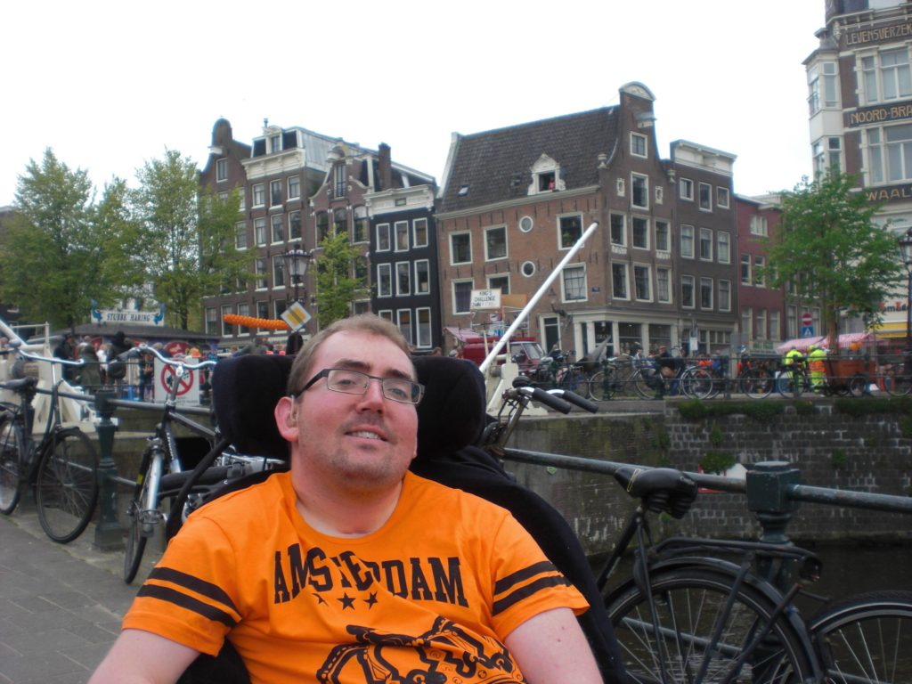 Me beside the canals in Amsterdam